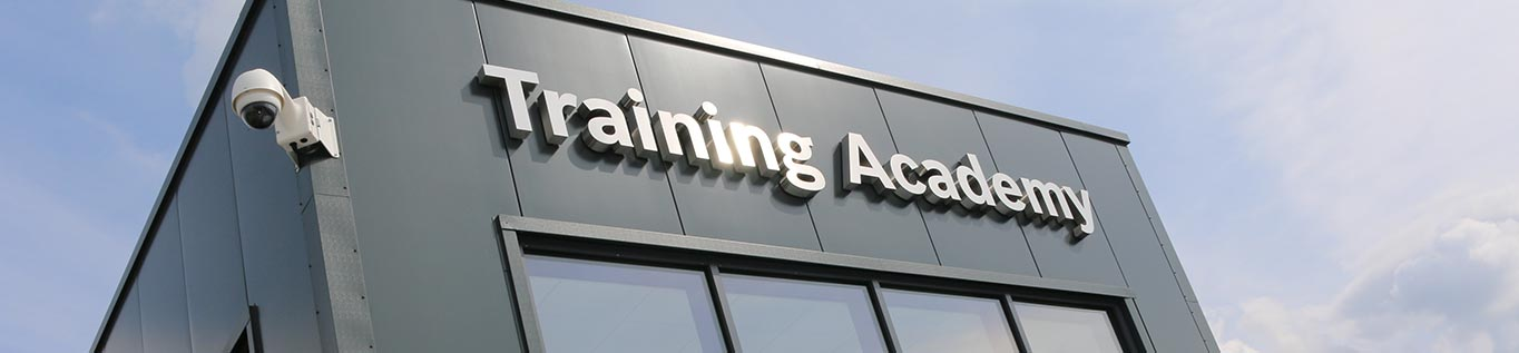 Close up photo of the Worcester Bosch Training Academy building