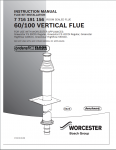 60/100 mm Vertical Flue