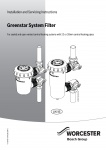 Greenstar System Filter 22mm & 28mm Installation and Maintenance Instructions