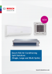 Bosch Climate 5000 air conditioning heat pump brochure Preview Image