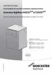 Greenstar CDi Highflow Combi Operating Instructions