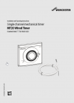 Worcester MT20 Wired Timer Installation and Servicing Instructions