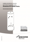 Worcester Greenstore SC Cylinder Installation and Servicing Instructions