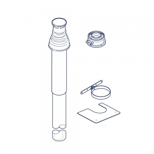 80/125 mm Vertical Flue Terminal Assembly