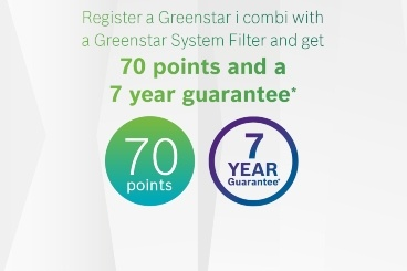 Greenstar Rewards 7 years guarantee and 70 points!