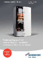 Greenspring CWi47 Instantaneous Water Heater Technical and Specification Information thumbnail