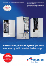 Greenstar Regular and System boilers Technical and Specification Information thumbnail