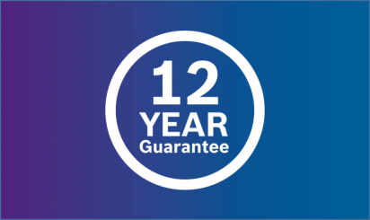 Get a 12 year guarantee with your new Worcester Bosch boiler