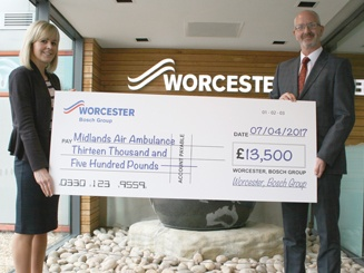 Worcester's high flying donation